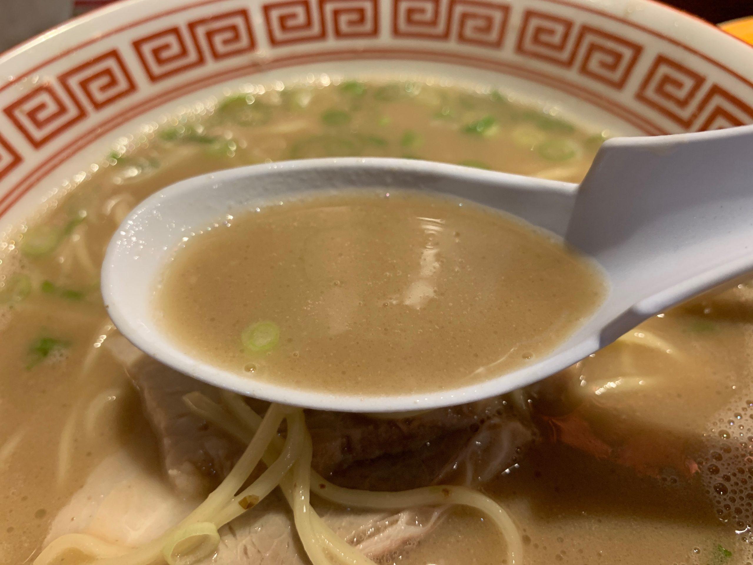東洋軒のラーメンのスープ