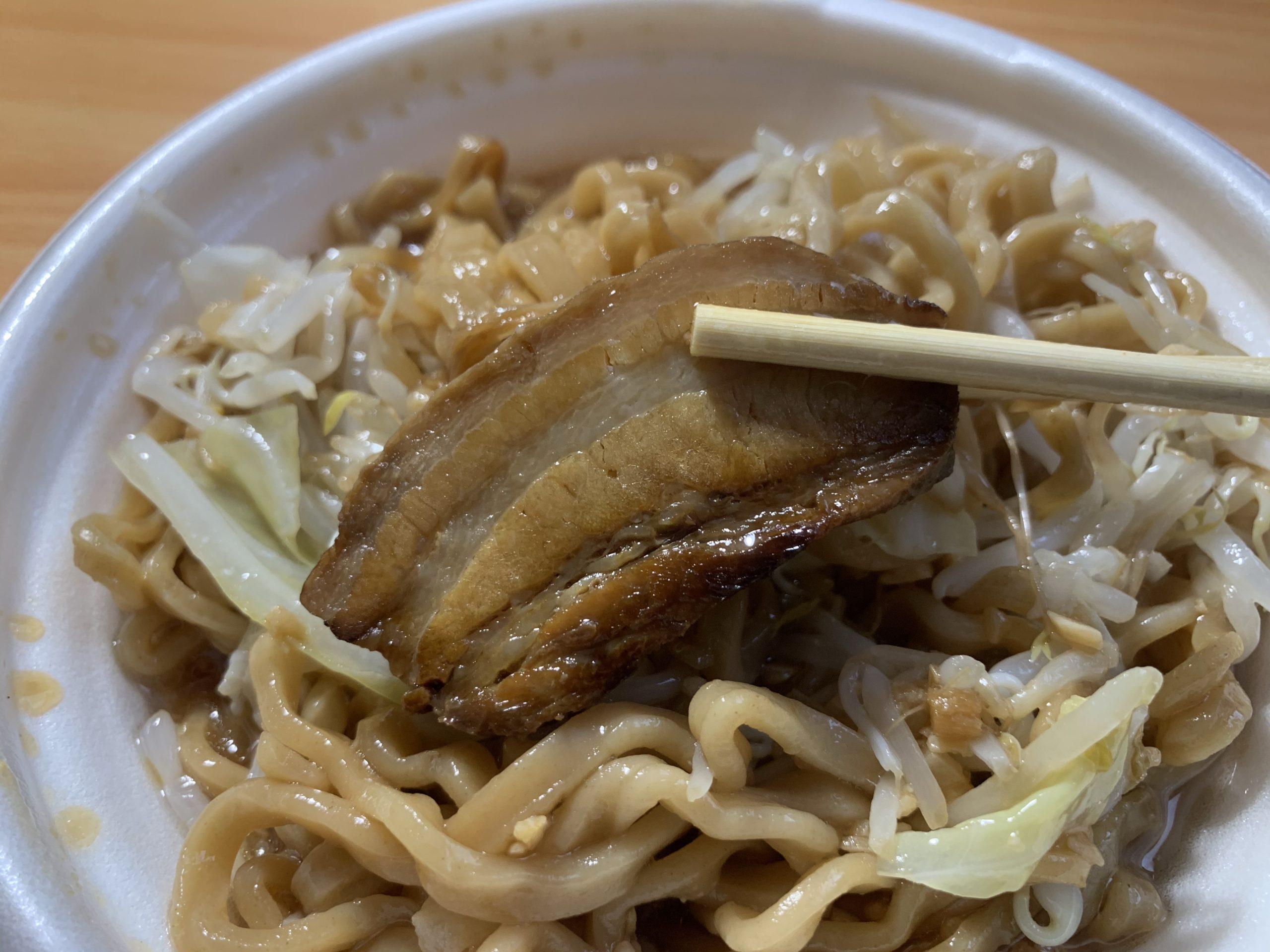 中華蕎麦とみ田豚ラーメンの豚肉