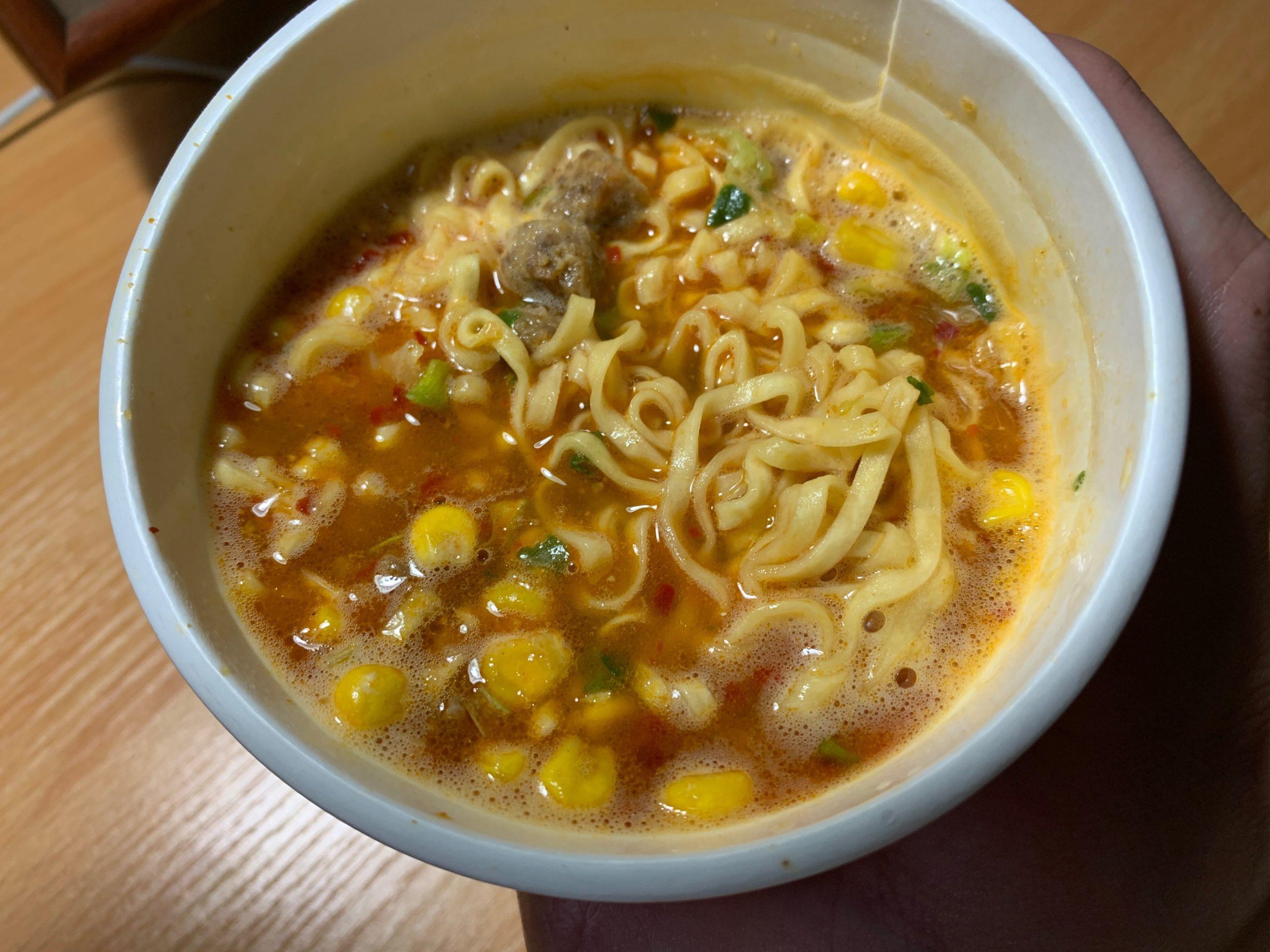 カップヌードル激辛味噌のスープ