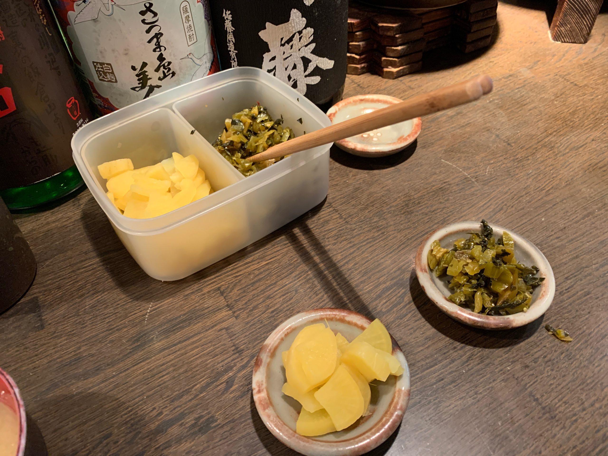 串焼京楽の漬物