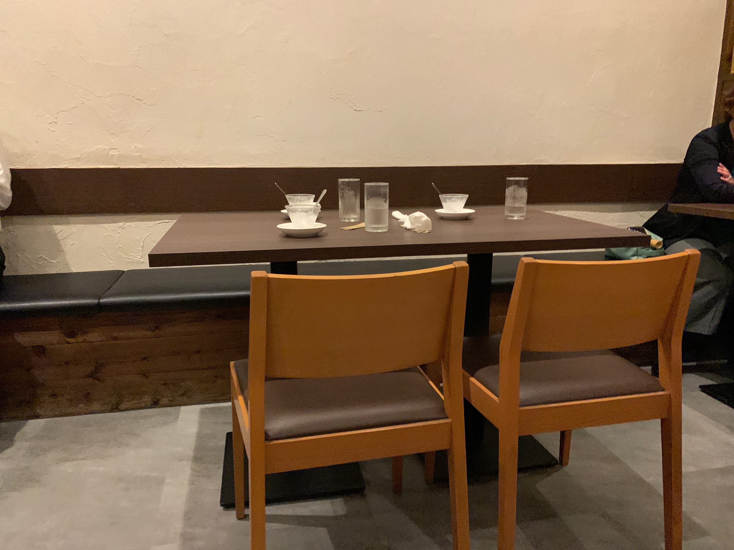真心(shinshin)のテーブル席