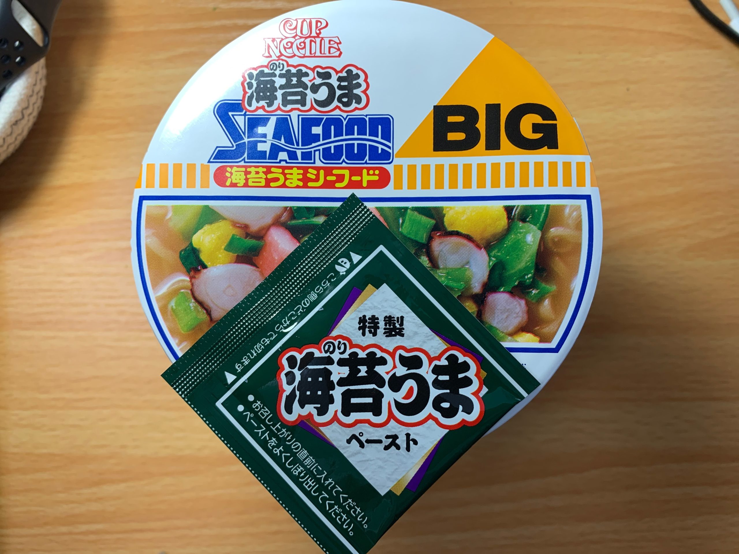 カップヌードルBIG海苔うまシーフードの調味料