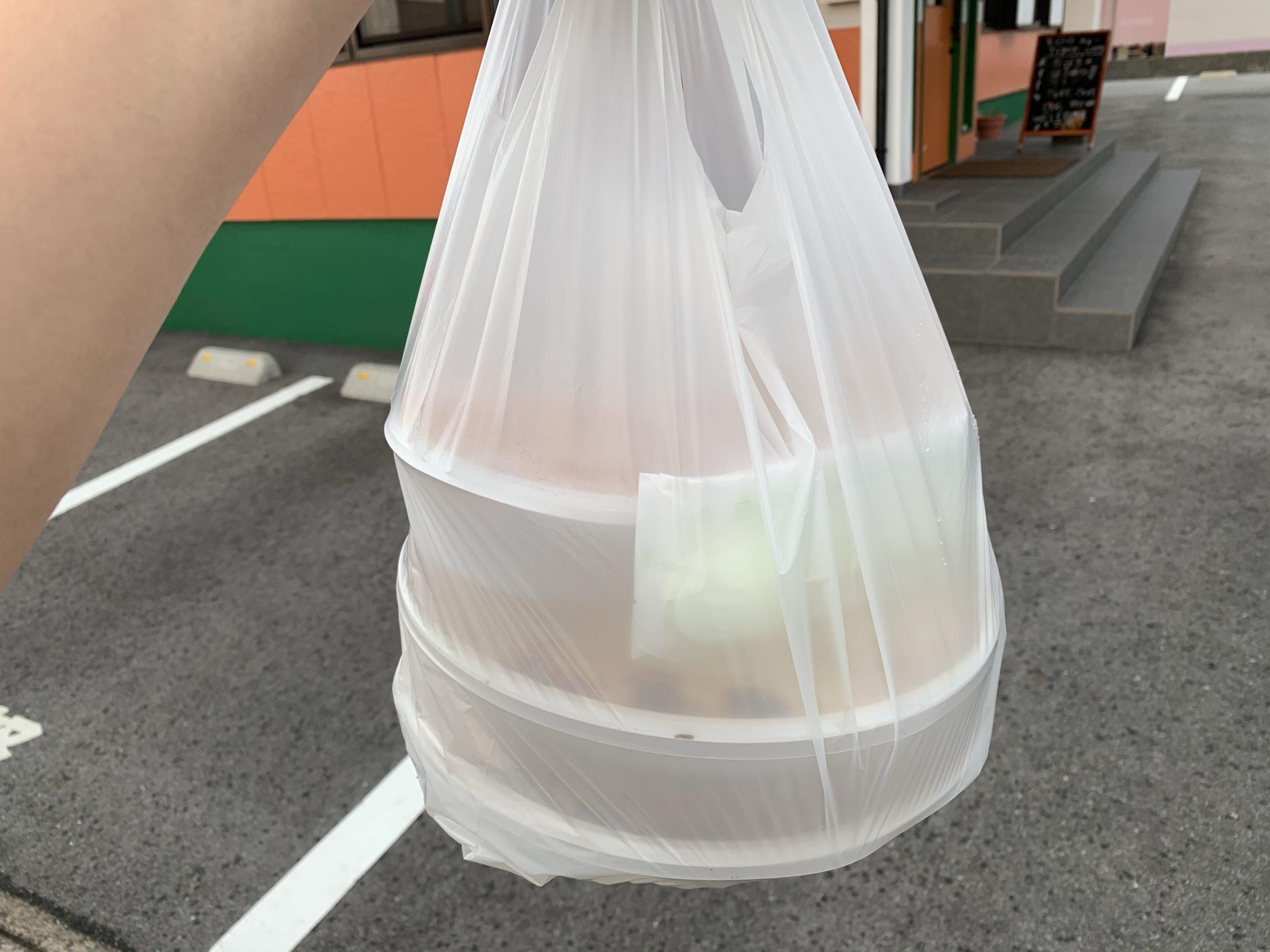 ナマステの持ち帰りの袋
