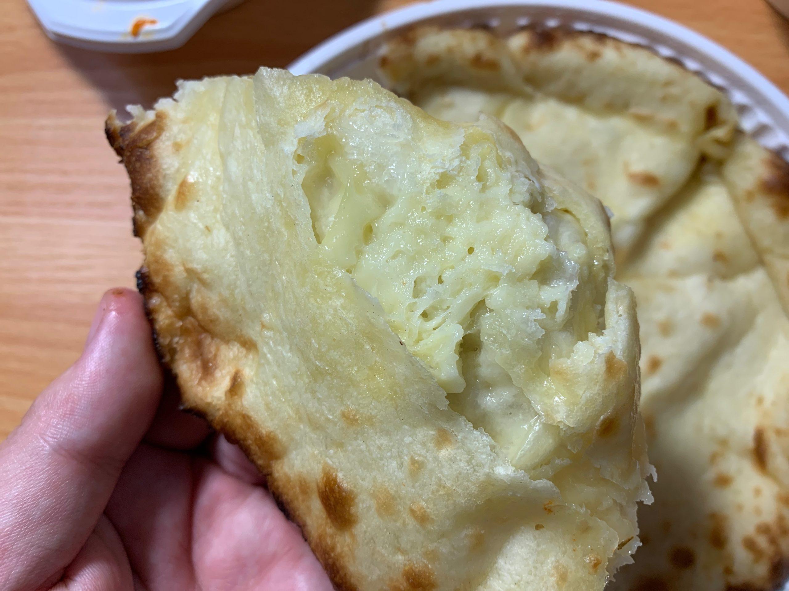 ナマステのチーズナンのチーズ