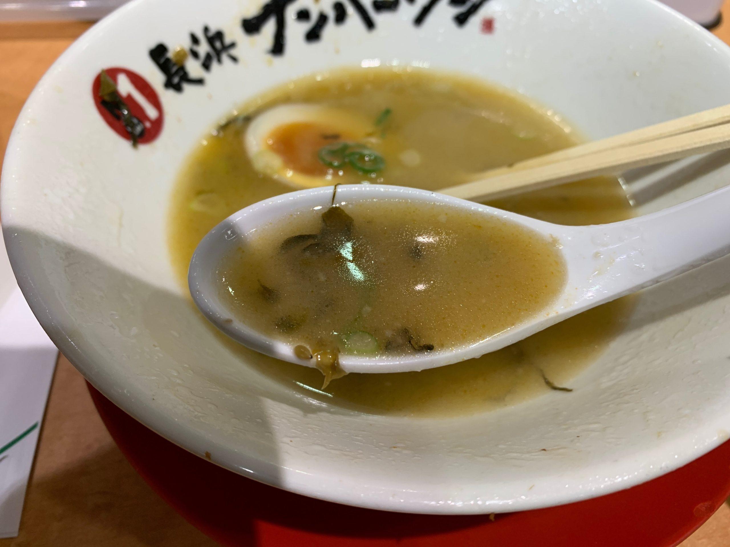 長浜ナンバーワンのスープ