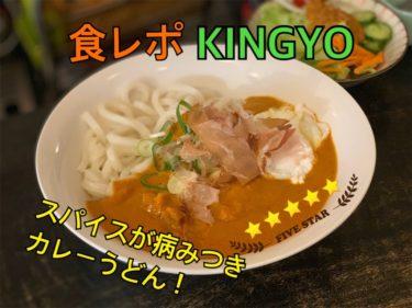 KINGYOカリーうどんの食レポ記事のサムネイル