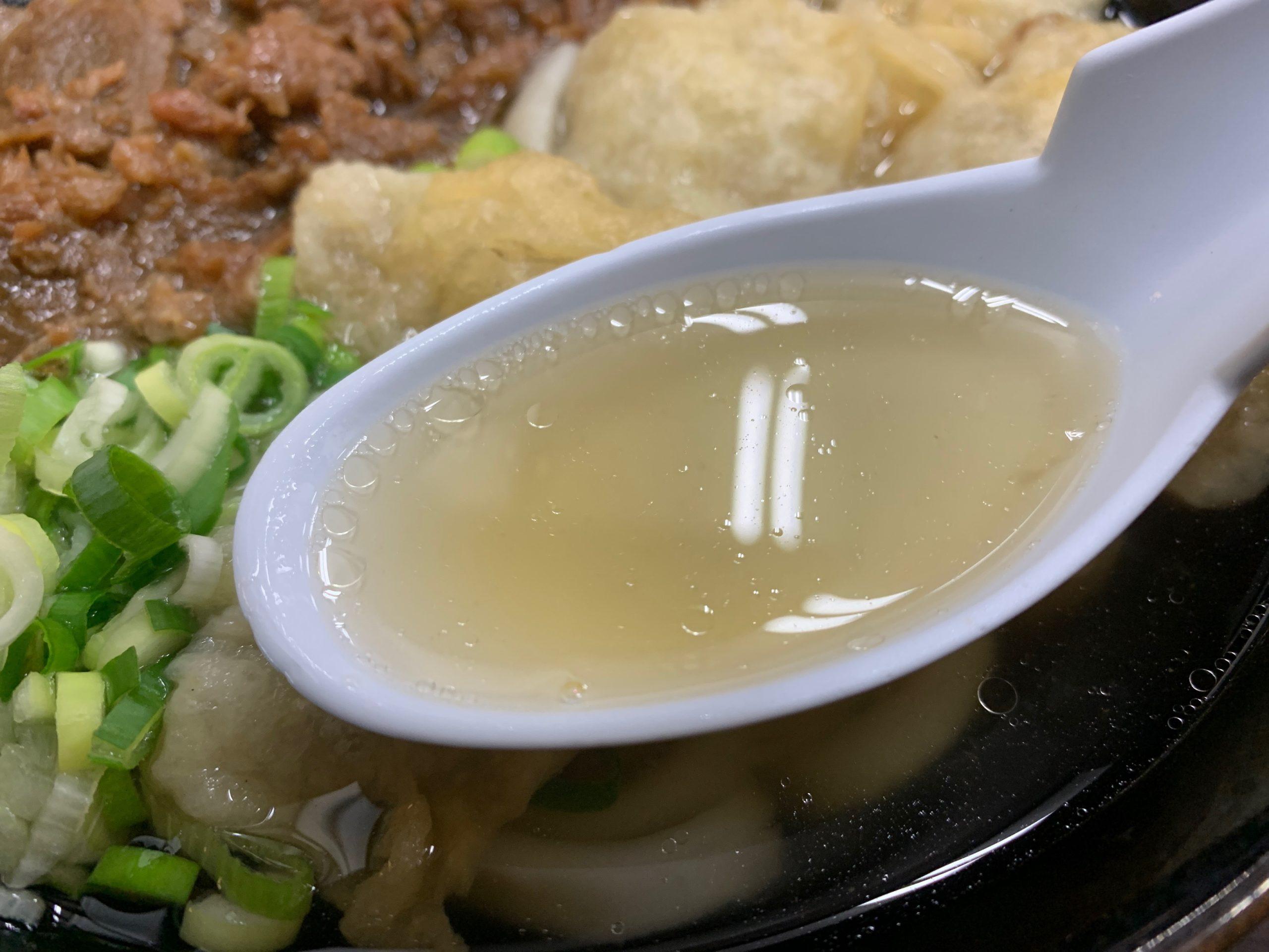 立花うどんのスープ