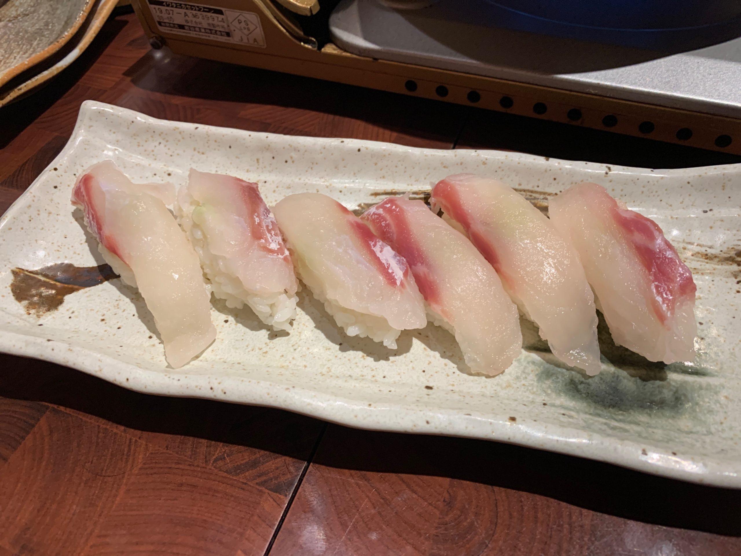 湊水産の鯛寿司
