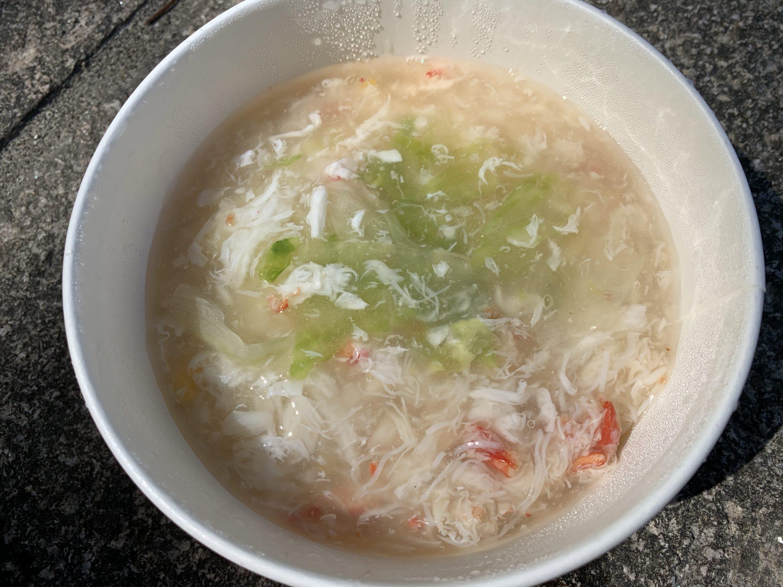 蟹あんかけレタス炒飯の完成