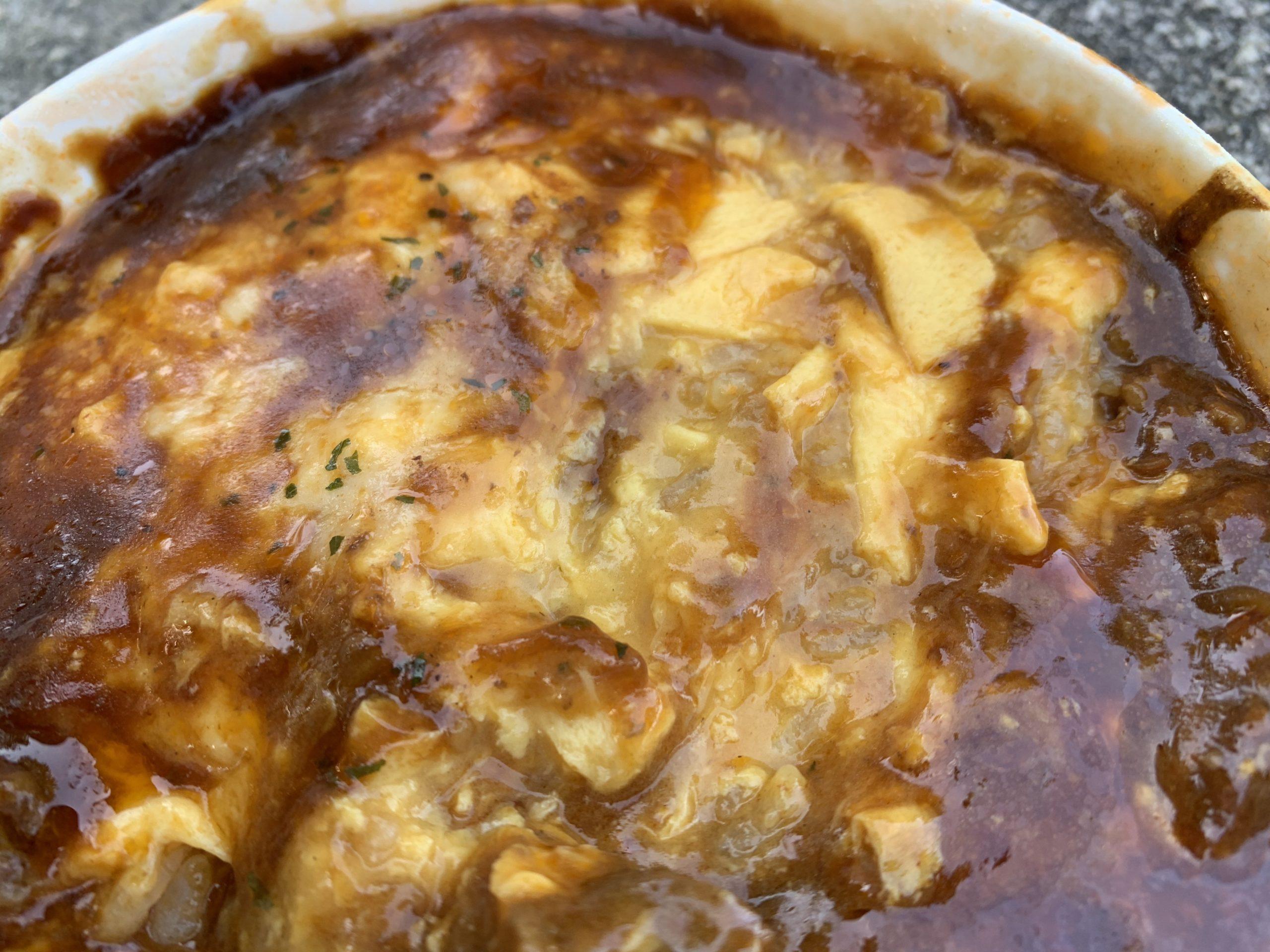 ハッシュドビーフ仕立てオムライスドリアの卵