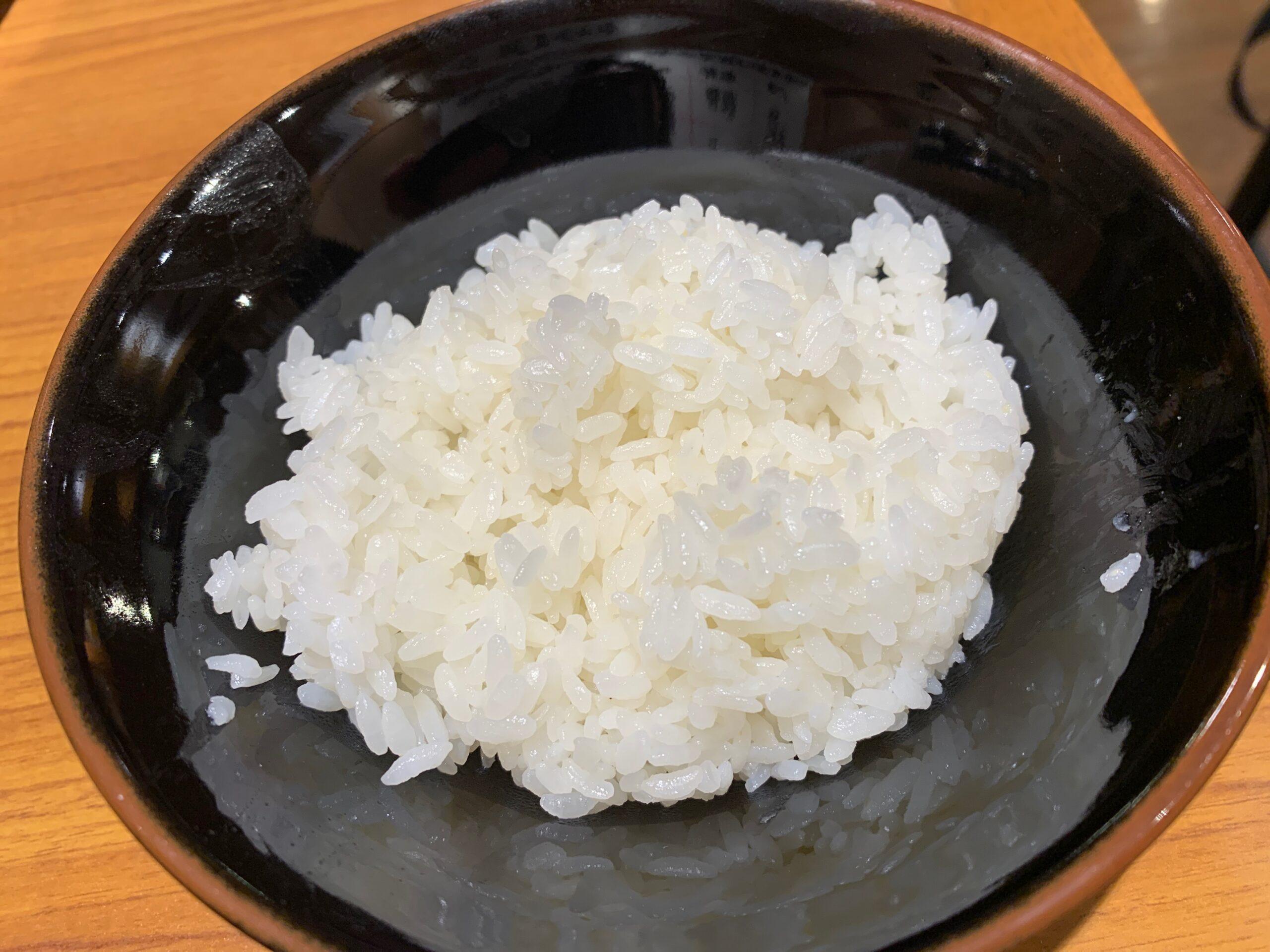 横浜家系ラーメン角蔵家の白ご飯