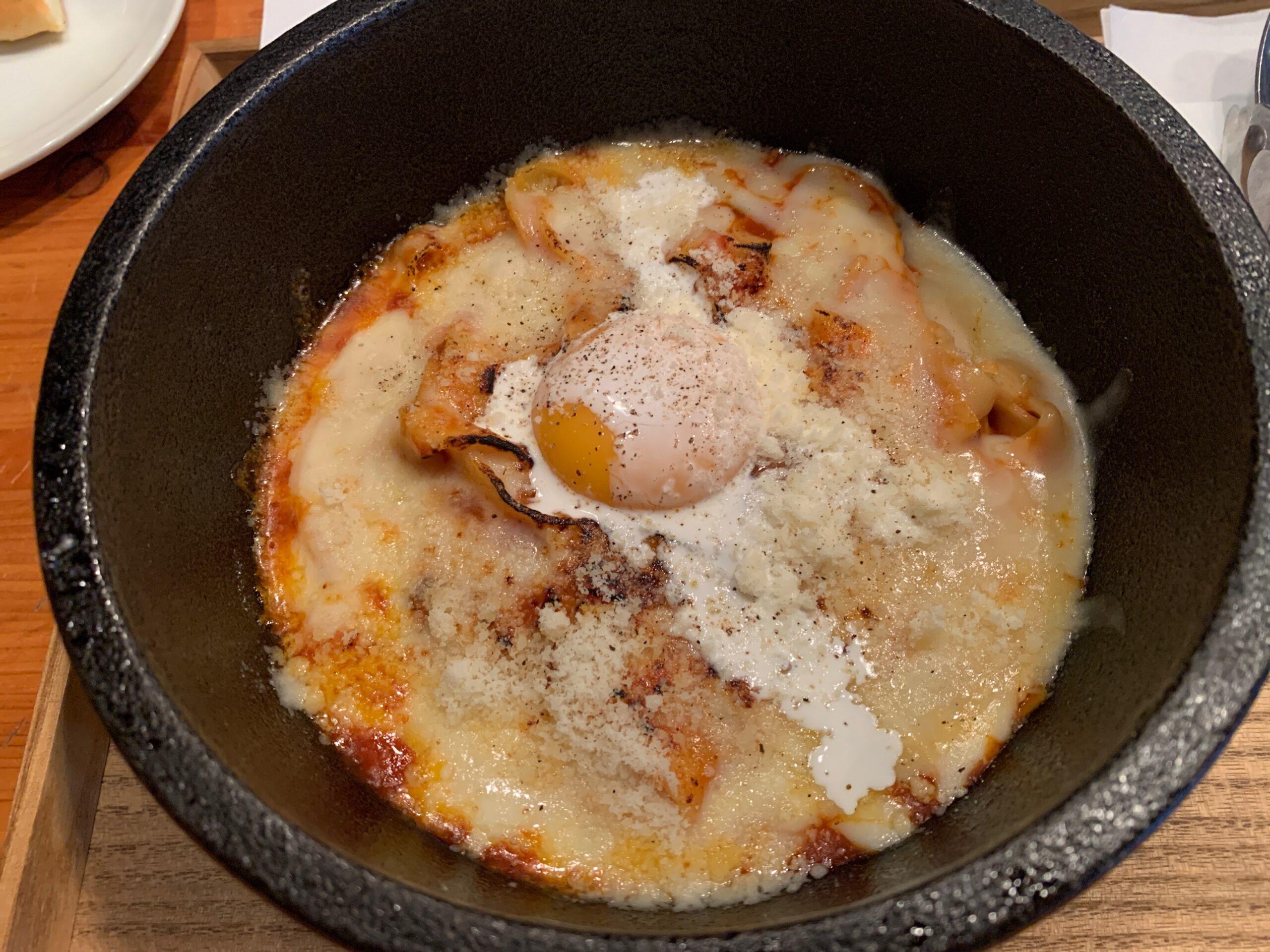 焼きチーズのラザニア風カルボナーラ